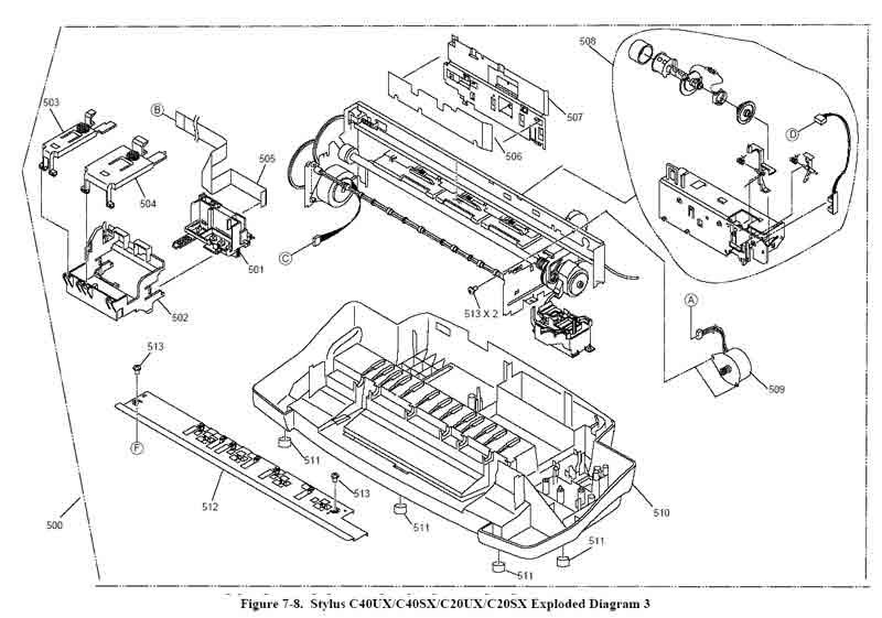 Схема БП принтера c20 c40