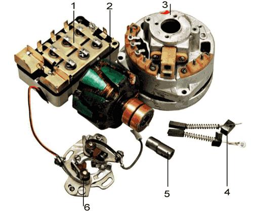 6 — контакты системы зажигания