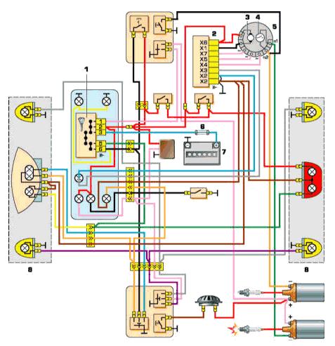 Схема цепи с трехфазным