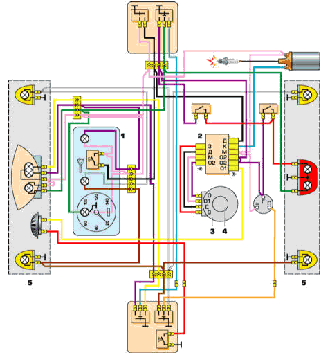 Схема цепи с однофазным